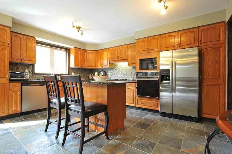 Cheap Kitchen Floor Tile Ideas With Oak Cabinets Oak Wood Cabinet And With  Slate Kitchen Floor.