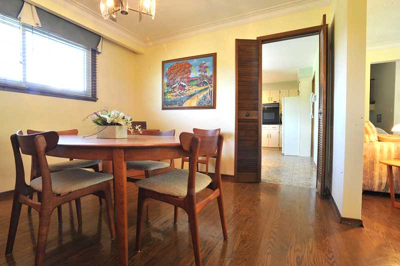 Dining - Hardwood Floors, Open to Living room