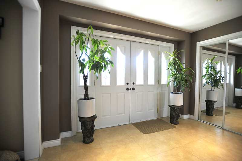 Foyer Entrance w/ Porcelain Heated Floors, Double Door Entry
