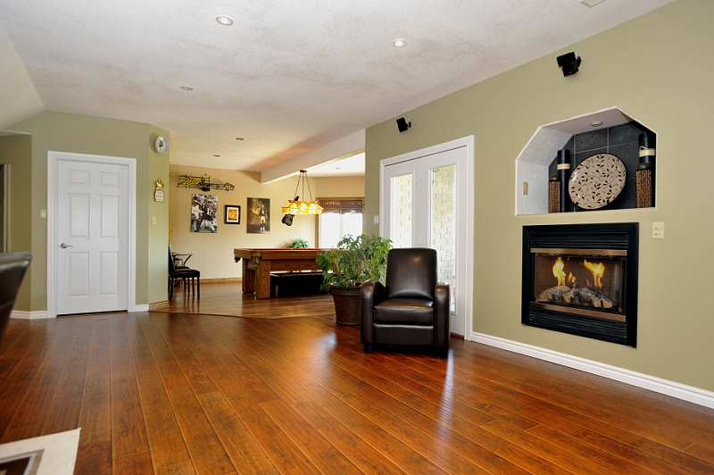 Open Concept Lower Level - Gas Fireplace, Walk-out, Games Room