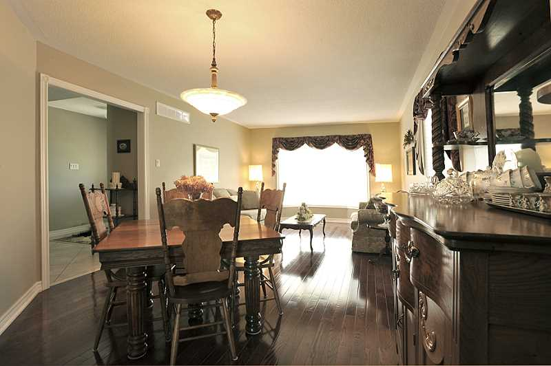 open concept dining, living