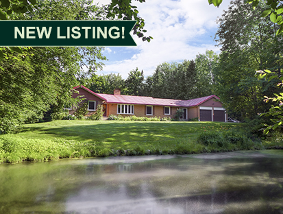 4 Bedroom Bungalow on 2.85 Acres w/ Pond & Trails