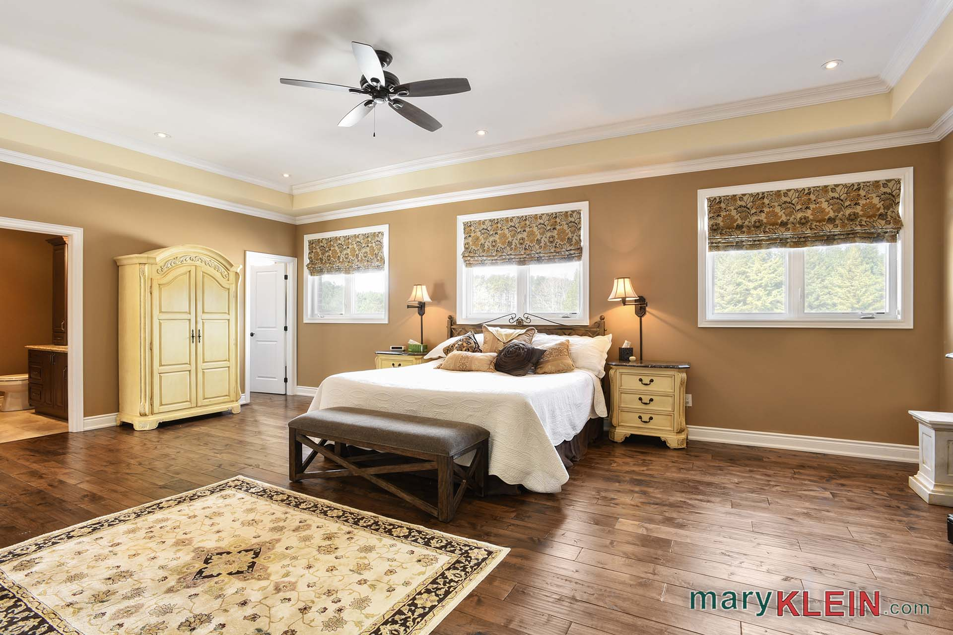 Master Bedroom, His and Hers Closets and Ensuites