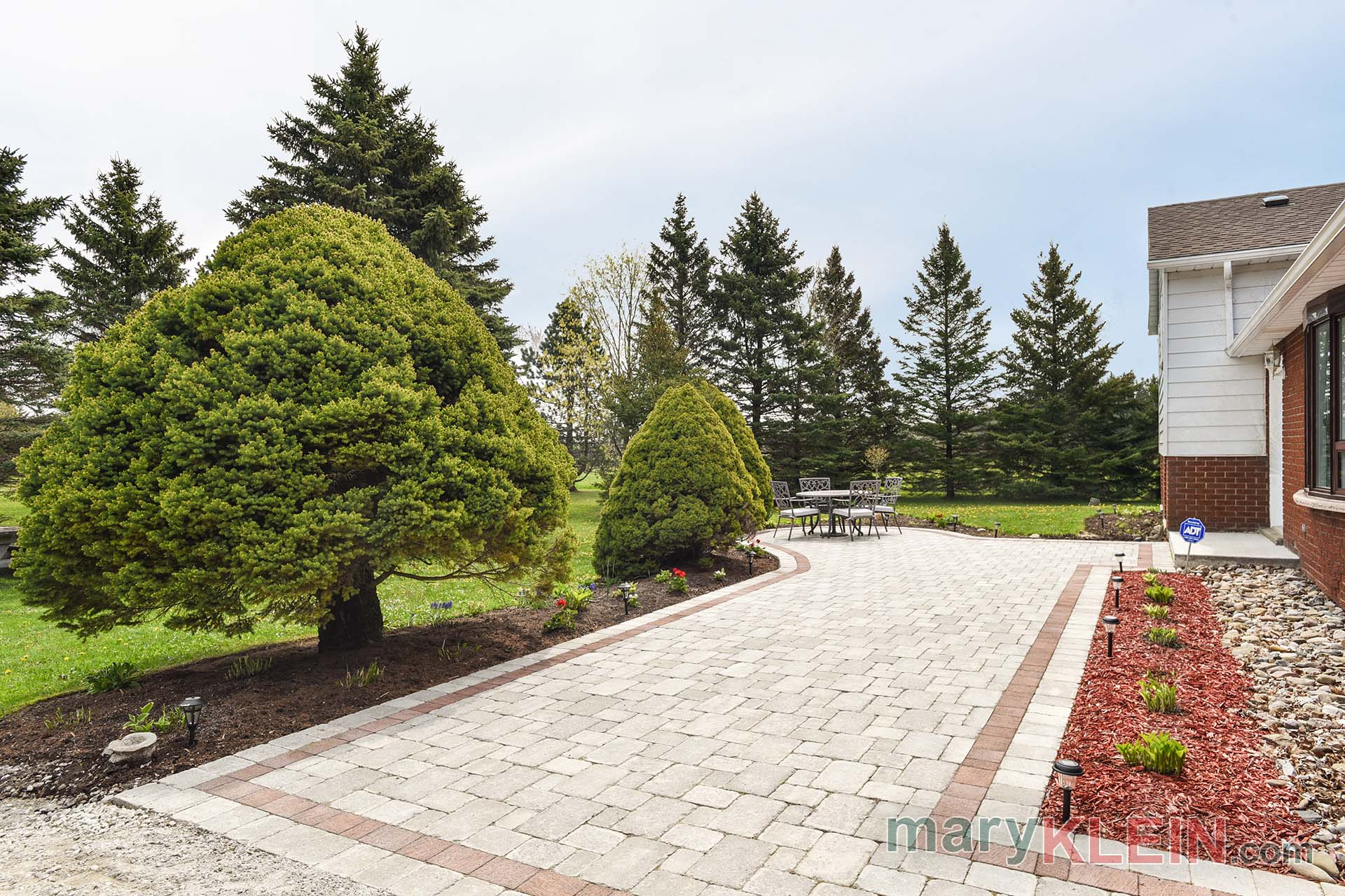 stone walkway, patio