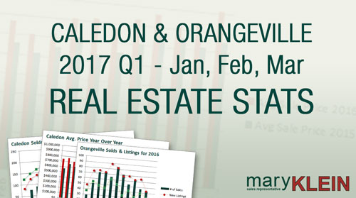 Caledon and Orangeville real estate stats: Mary Klein, Kaitlan Klein