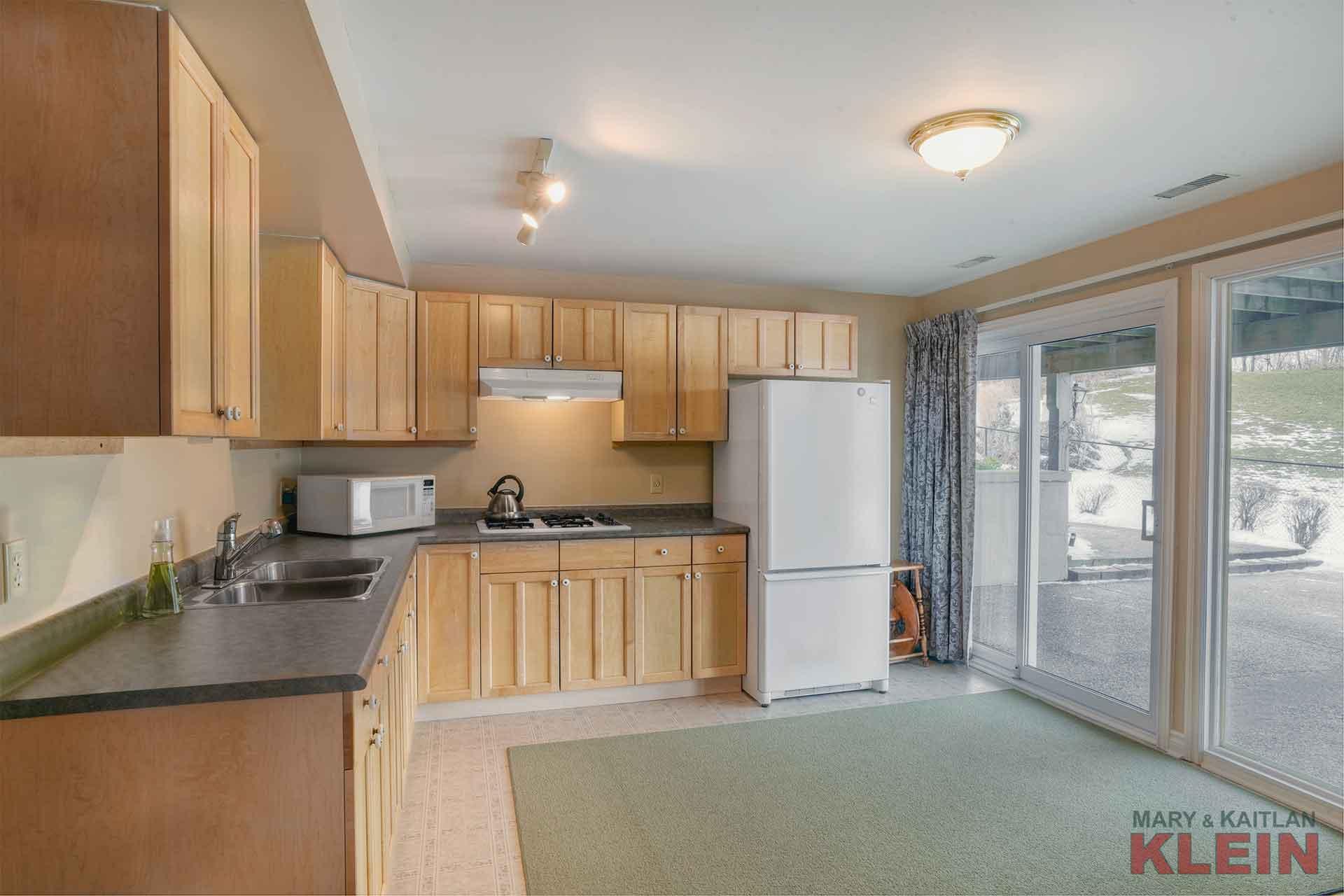 Maple kitchen, lower level, 2 kitchens