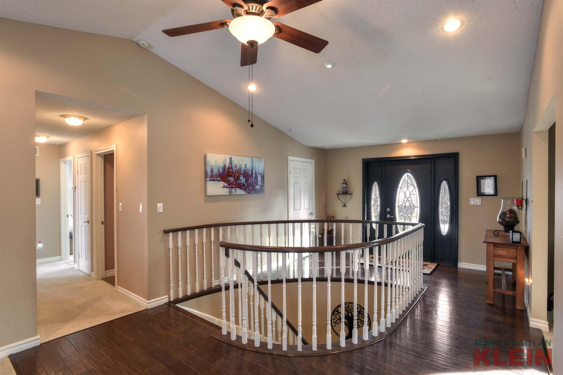 Front Foyer, Ceiling Fan, Engineered Hardwood Flooring, Closet