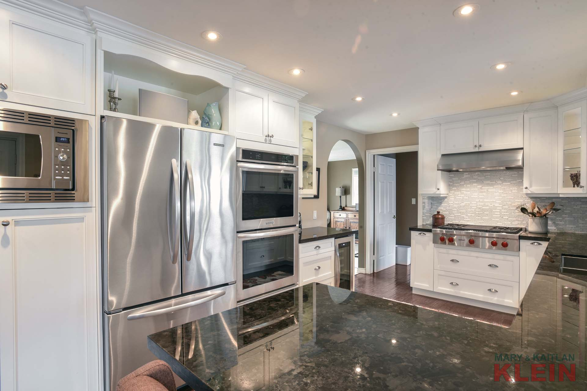 wolf stove, stainless steel appliances