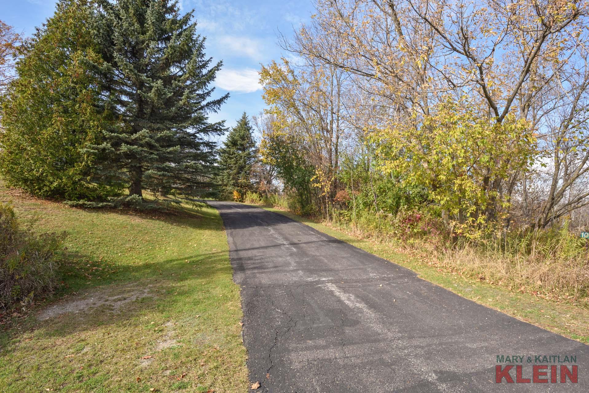 Private paved driveway, circular