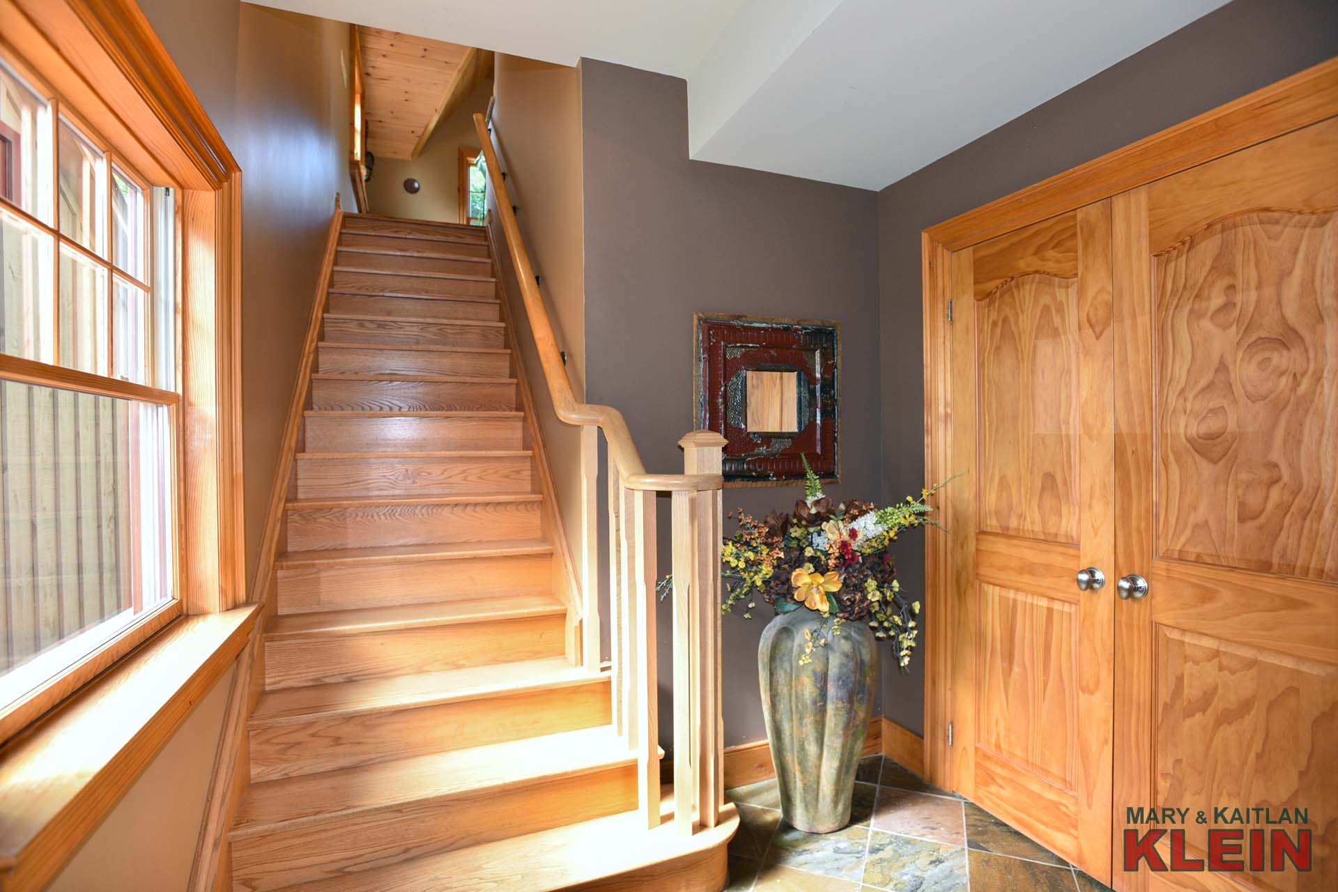 Double Closet, Slate Flooring