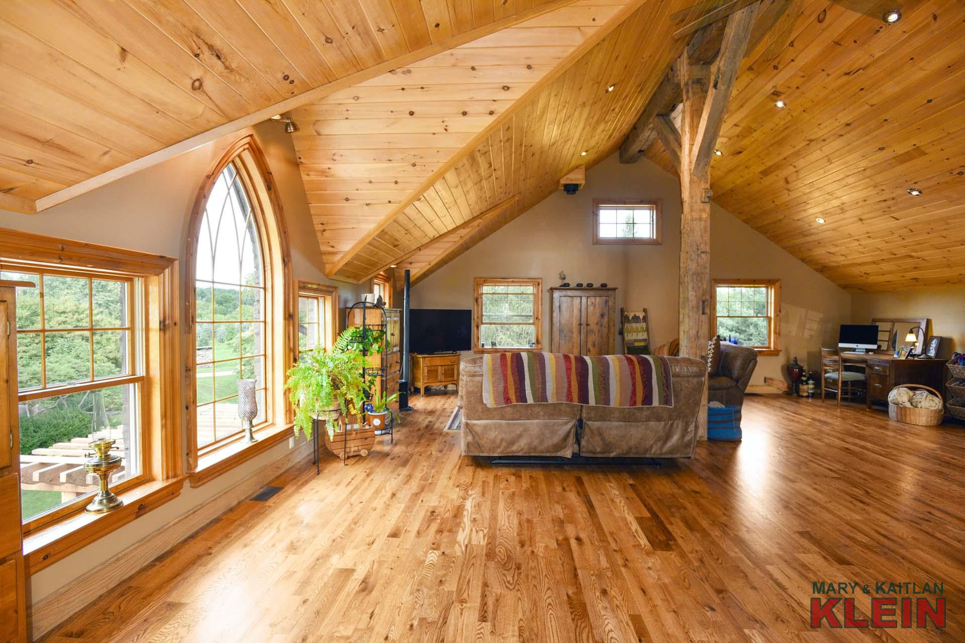 Vaulted Ceiling, Loft Rec Room, Yoga, Artist