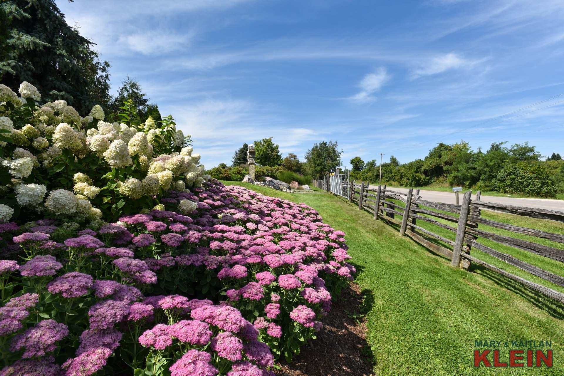 split rail fence, caledon, gardens