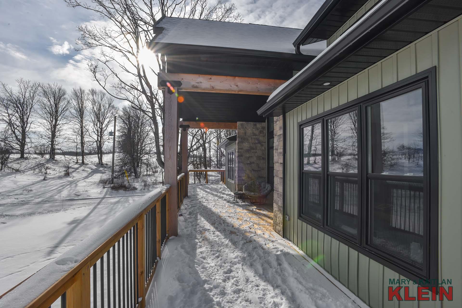 Snowy Wraparound Deck