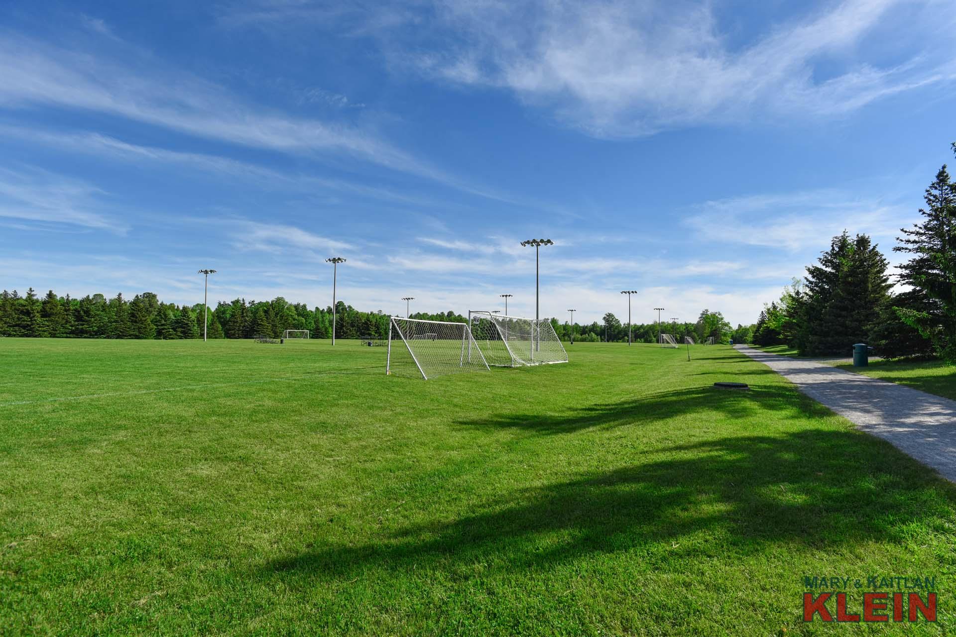 Nearby soccer fields, Caledon East