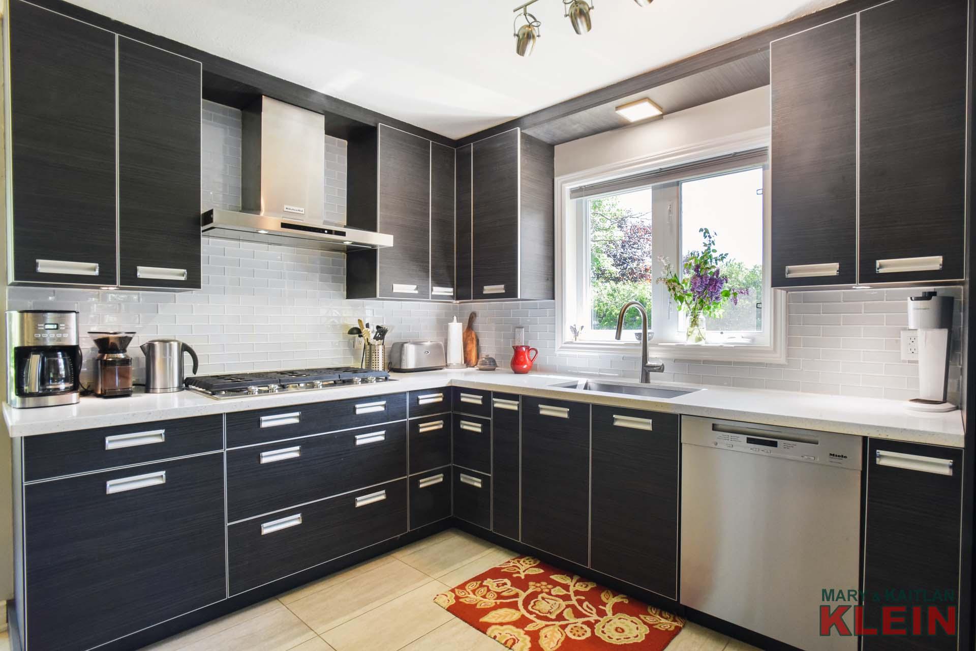 Updated Modern Kitchen, black kitchen