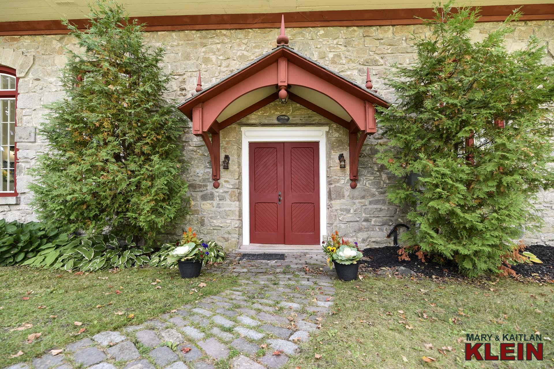 Cobblestone walkway to Front Door