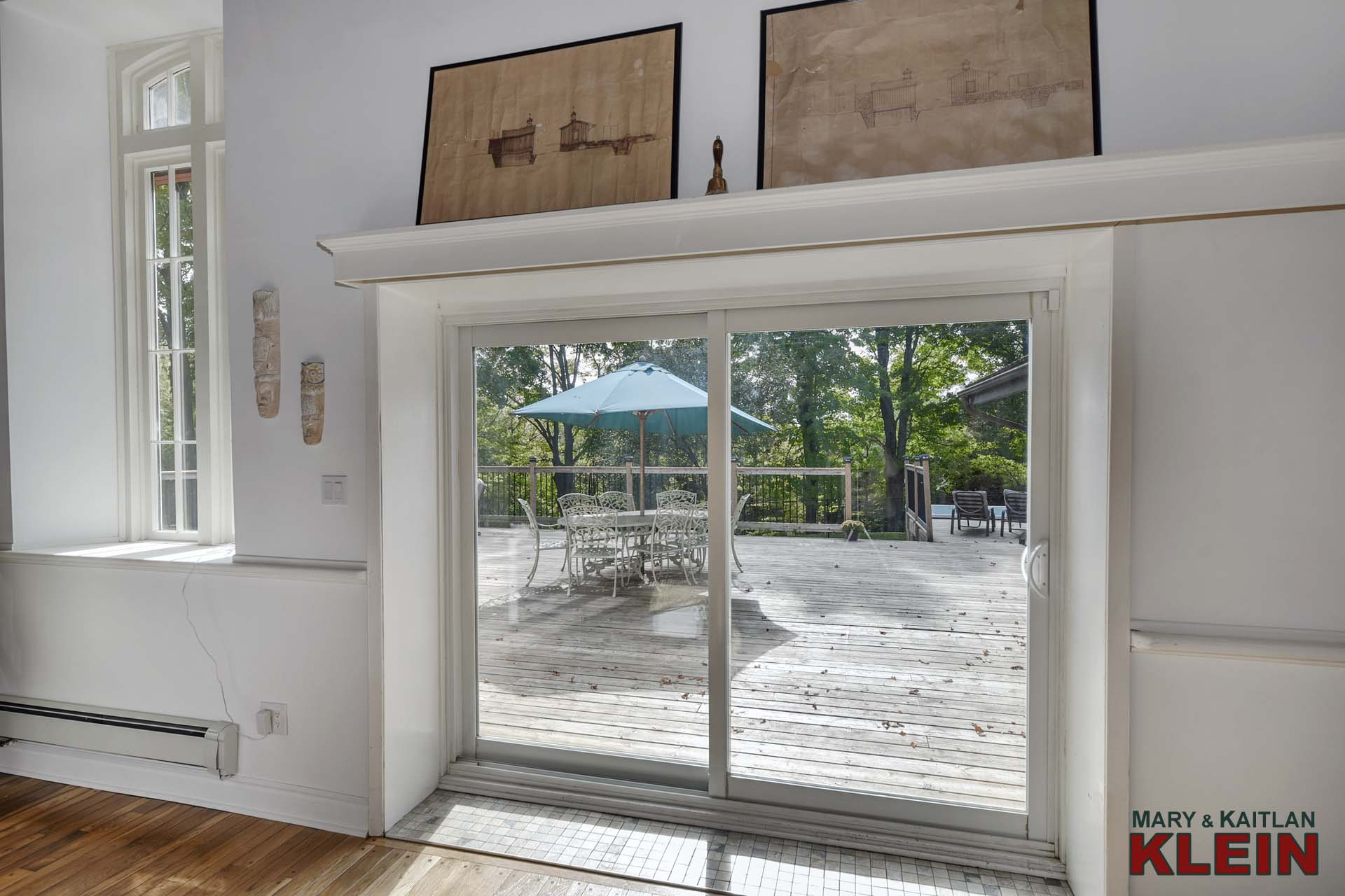 Sliding door Walkout to the Large Deck