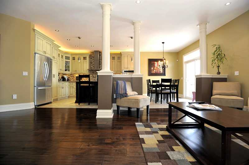 Open Kitchen Dining Room Flooring
